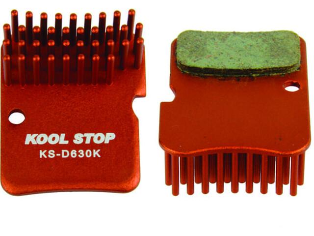 Kool Stop Disc Aero Bremsebelægninger Shimano XTR BR-M965/966/975, Deore, Alfine rød